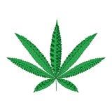 Лист конопли пеньки в стиле zentangle Силуэт ornamental марихуаны Стоковые Изображения