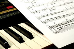 лист нот клавиатуры Стоковые Фотографии RF