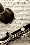 лист нот кларнета Стоковое фото RF