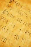 лист нот старый Стоковая Фотография RF