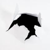 лист отверстия бумажный Стоковое Изображение