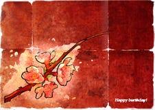 лист персика ветви старый Стоковая Фотография RF