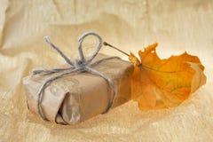 лист подарка осени Стоковое Изображение RF