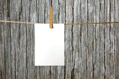лист пустой бумаги Стоковое Изображение