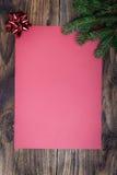 Лист рождества бумажный Стоковая Фотография RF