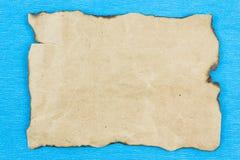 Лист старого папируса, бумаги Kraft стоковая фотография