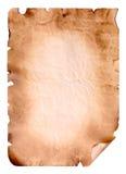 Лист старой бумаги стоковые изображения