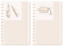 лист тетради чертежей Стоковое Изображение RF