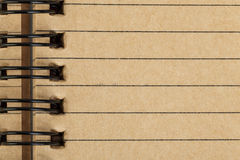 Лист тетради сделанный от рециркулирует бумагу Стоковое Изображение
