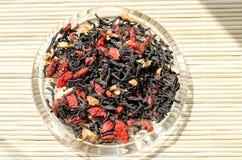 Лист чая с ягодами Goji Стоковые Фото