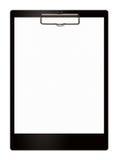 лист черного clipboard пустой Стоковая Фотография RF