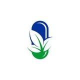 Лист capsules логотип значка Стоковая Фотография