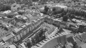 Литва vilnius Вид с воздуха на Вильнюсе , старый городок акции видеоматериалы