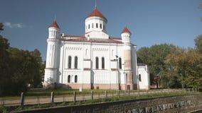 Литва vilnius Собор Theotokos в городке Вильнюса старом сток-видео