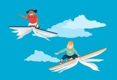 Литература и воображение детей иллюстрация вектора