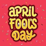 Литерность вектора щетки дня ` s дурачка в апреле Стоковое фото RF