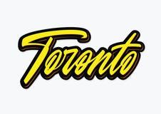 Литерность вектора щетки Торонто Стоковая Фотография RF