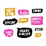 Литерность в multicolor наборе пузырей речи бесплатная иллюстрация