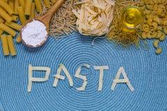 Литерность еды макаронных изделий стоковые изображения rf