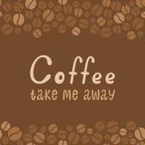 Литерность дизайна кофе. Меню для ресторана, кафа Стоковое Изображение