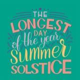 Литерность летнего солнцестояния Стоковое Изображение RF