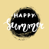 Литерность нарисованная рукой - счастливое лето Стоковые Изображения
