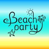 Литерность партии пляжа Стоковое Фото