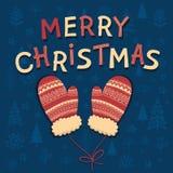 Литерность рождества с иллюстрацией Xmas Стоковая Фотография