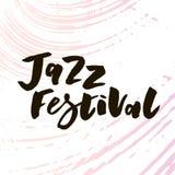 Литерность с джазовым фестивалем фразы также вектор иллюстрации притяжки corel акварель иллюстрация штока
