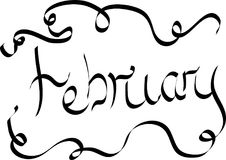 Литерность цифров на месяц февраль бесплатная иллюстрация