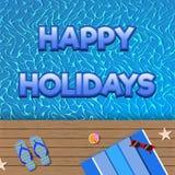 Литерность шаржа праздников вектора счастливая для дизайна лета Стоковые Фотографии RF