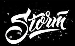Литерность шторма handmade каллиграфия бесплатная иллюстрация