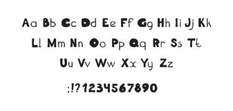 Литерность ABC декоративной руки шрифта вычерченная, жирные буквы иллюстрация штока