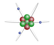 литий атома Стоковое Фото