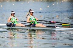 Литовские спортсмены на rowing конкуренции чашки мира гребя Стоковые Фотографии RF
