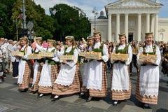 Литовское торжество песни стоковое фото rf