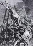 Литографирование высоты креста (1906) после Rubens Стоковые Фотографии RF