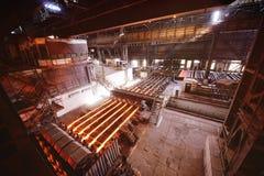 Литое железо или металл в прессформах Стоковое фото RF