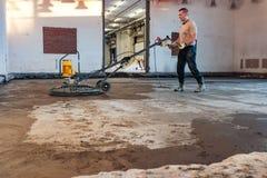 Лить бетонная плита Стоковые Фото