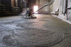 Лить бетонная плита Стоковая Фотография