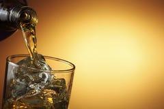 Лить виски стоковые изображения rf