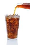 лить льда колы бутылки стеклянный Стоковые Фото