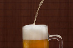 Лить пиво в кружку стоковое изображение rf