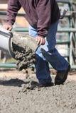 Лить цемент на день Стоковое Фото