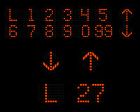Лифт нумерует индикатор СИД стрелок иллюстрация вектора