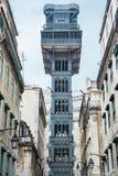 Лифт Санта Justa в Лиссабоне стоковые фотографии rf