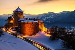 Лихтенштейн vaduz Загоренный замок Вадуц Стоковые Изображения RF