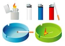 лихтеры ashtray Стоковая Фотография RF