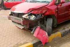 Лицевая сторона автокатастрофы стоковые фотографии rf