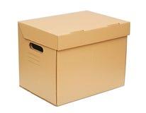 Лицевая сторона картонной коробки Стоковые Фотографии RF